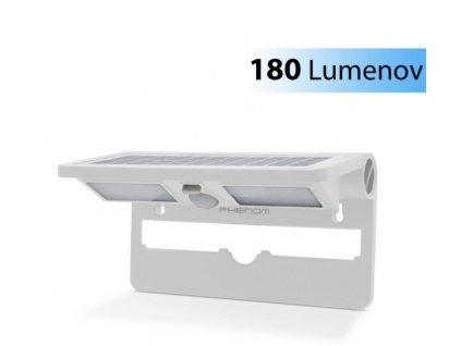 Solárne senzorové osvetlenie na stenu - biele