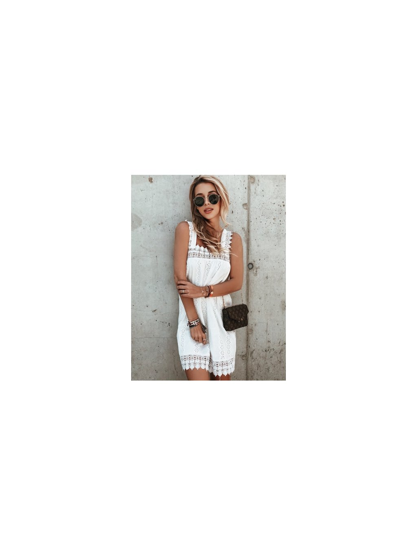 bílé mini šaty summer
