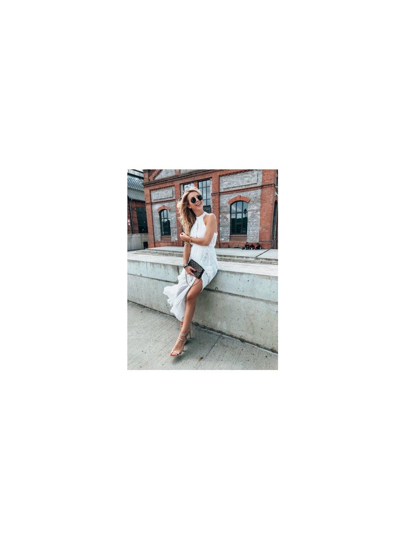 bílé midi šaty luxury