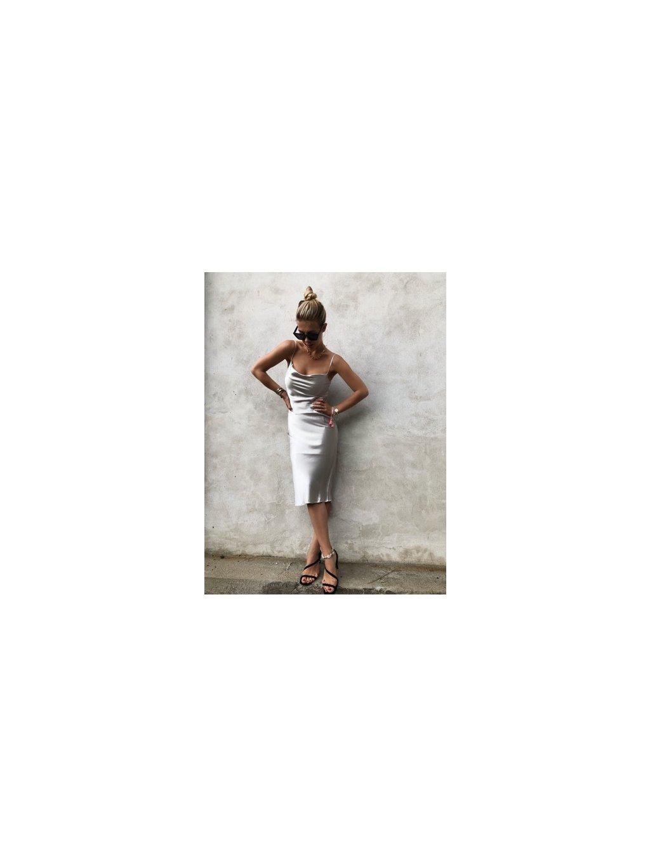 cowl nck champagne šaty 1