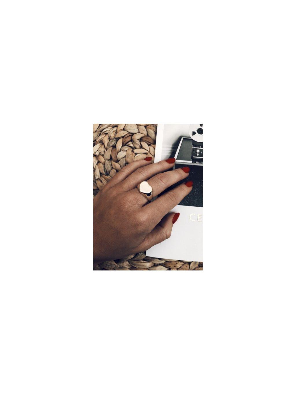 gold heart prsten