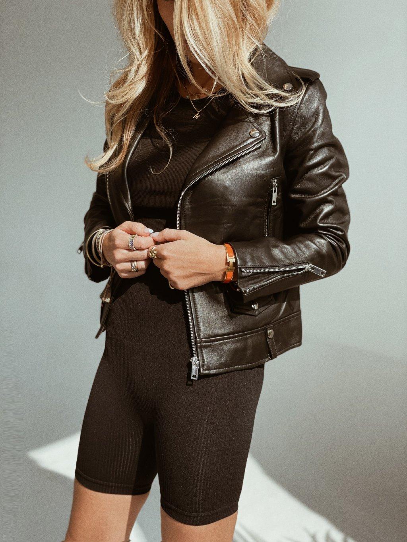 Kožená bunda Sia