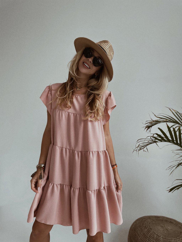 pink šaty volanky 2