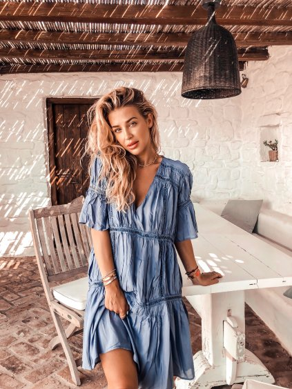 Blue paradise šaty
