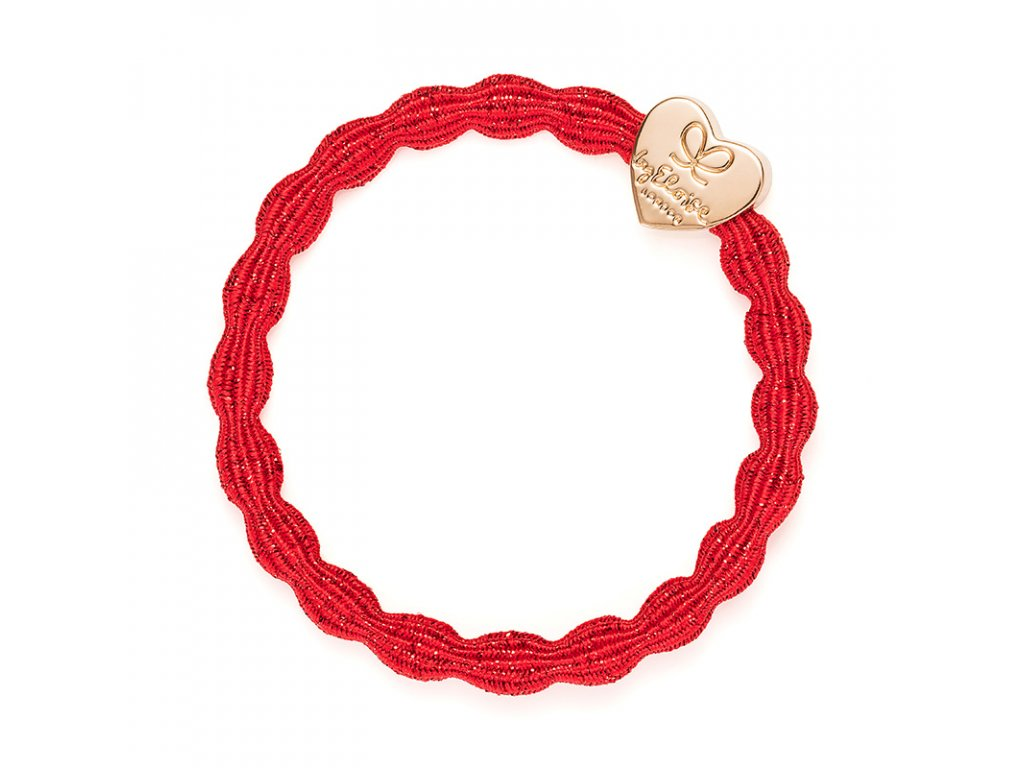 ByEloise Metallic Gold Heart Red