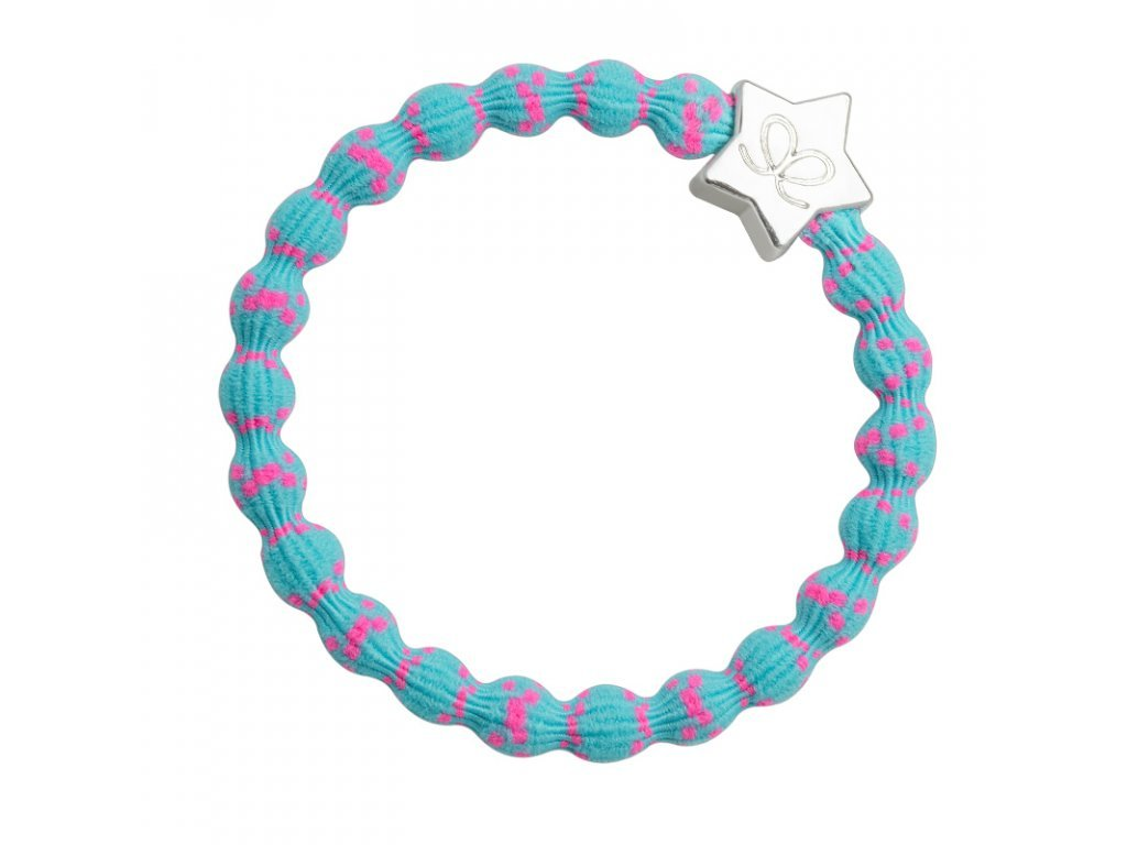 BYELOISE SILVER STAR / NEON PINK ON NEON BLUE