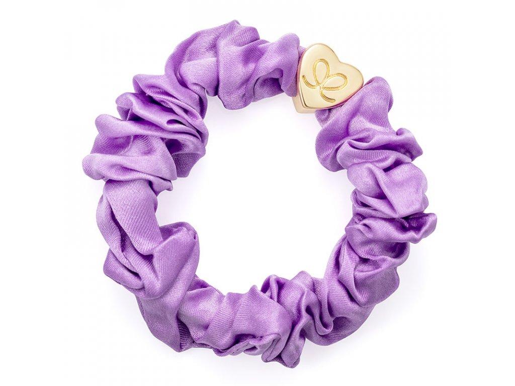 Lilac GoldHeart Scrunchie ByEloise