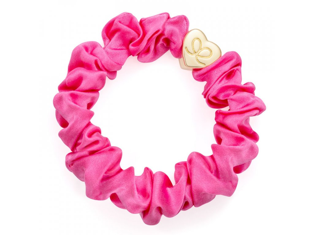 BubblegumPink GoldHeart Scrunchie ByEloise