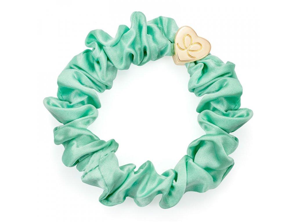 Mint GoldHeart Scrunchie ByEloise