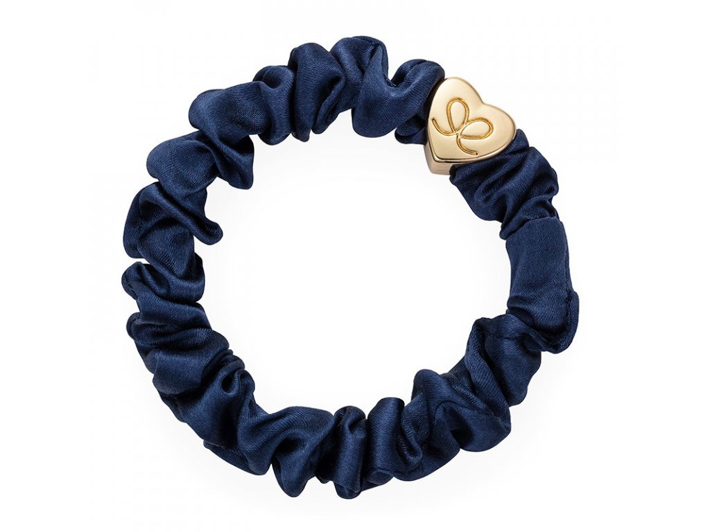 Navy GoldHeart Scrunchie ByEloise