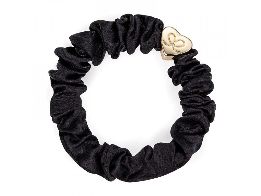 Black GoldHeart Scrunchie ByEloise