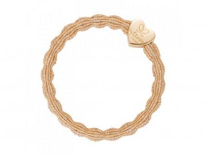 BYELOISE METALLIC GOLD HEART / GOLD