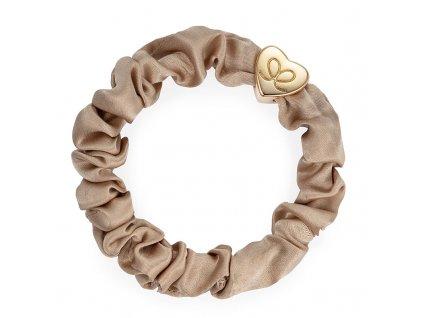 Sand GoldHeart Scrunchie ByEloise