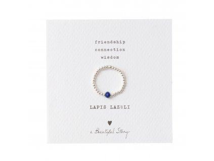 Prsten Sparkle Lapis Lazuli Silver