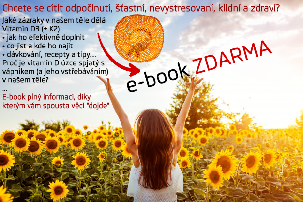Stáhněte si ZDARMA E-BOOK s informacemi o vitamínech D3 a K2, o hořčíku a vápníku