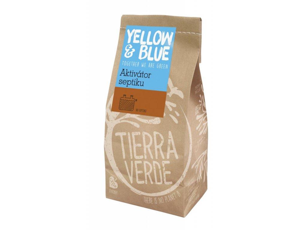 Tierra Verde – Aktivátor septiku (pap. sáček 500 g) (Yellow & Blue)