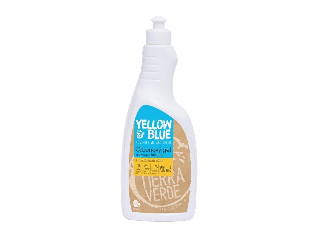 Tierra Verde – Citronový gel na vodní kámen (Yellow & Blue), 750 ml