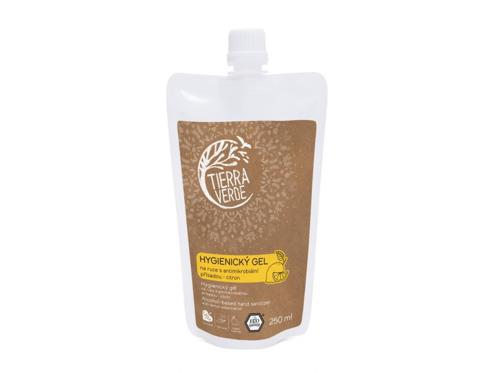 Tierra Verde – Hygienický gel na ruce citron, 250 ml