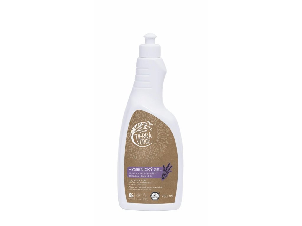 Tierra Verde – Hygienický gel na ruce levandule, 750 ml