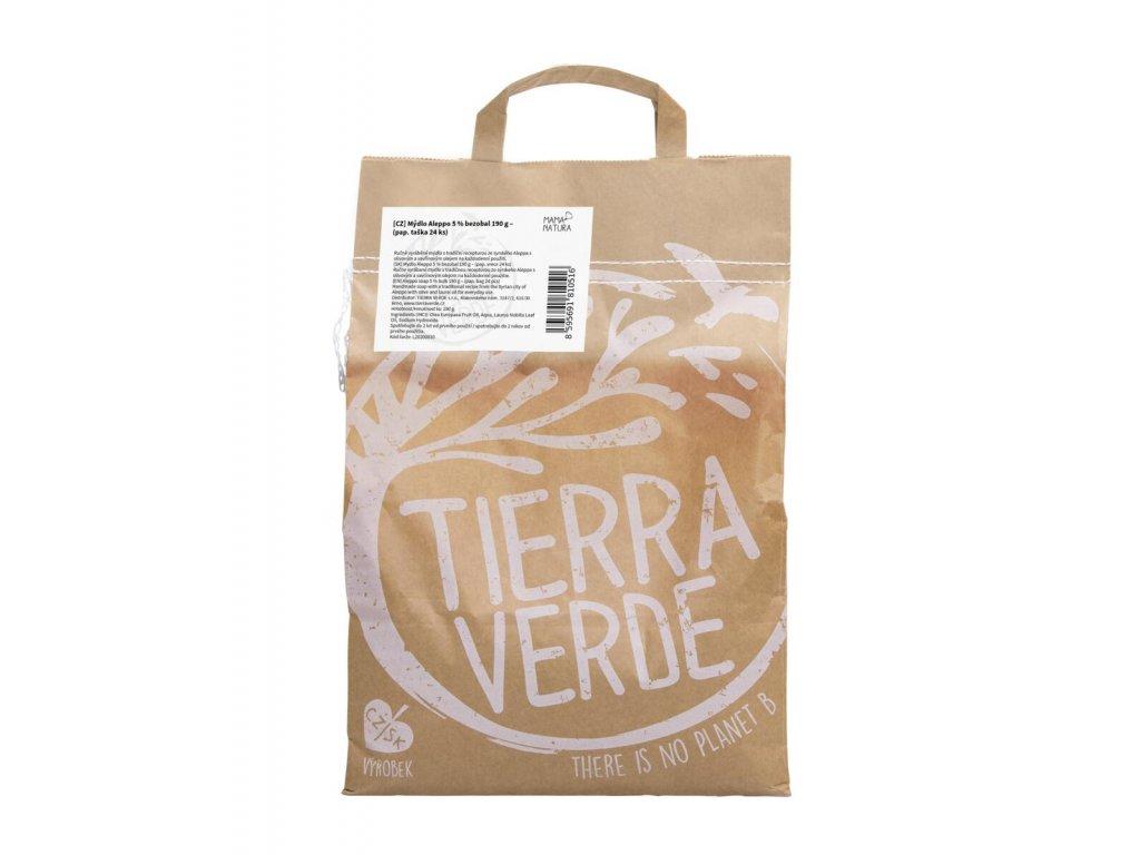 Tierra Verde – Mýdlo Aleppo 5 % (bezobal 190 g), 190 g × 24 ks