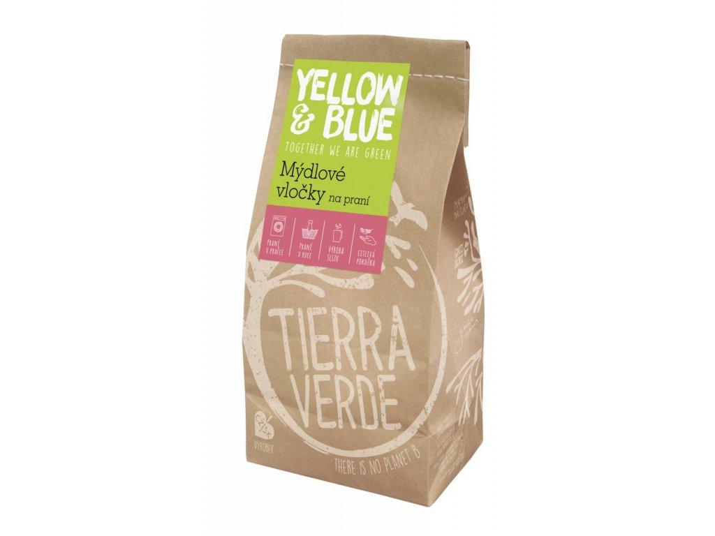 Tierra Verde – Mýdlové vločky (Yellow & Blue), 400 g