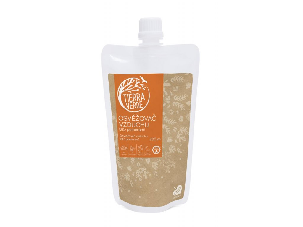 Tierra Verde – Osvěžovač vzduchu – BIO Pomeranč, 200 ml