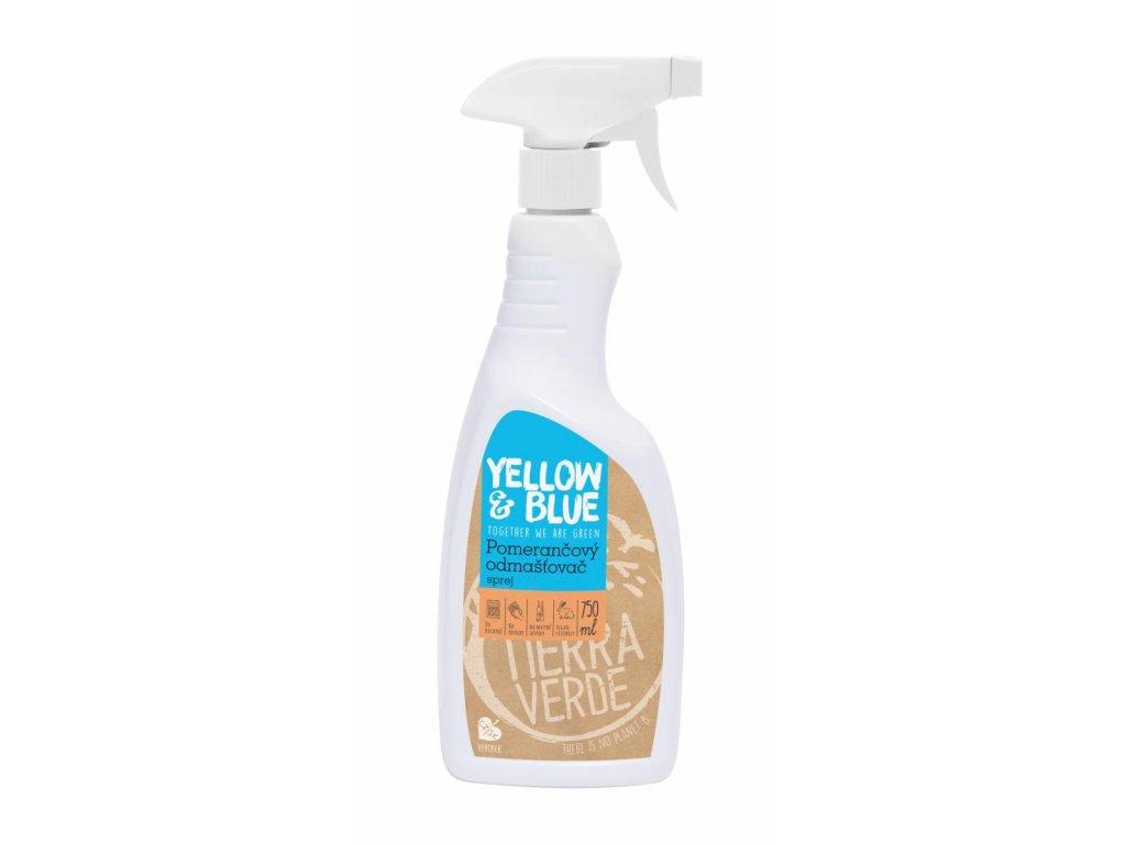 Tierra Verde – Pomerančový odmašťovač – sprej (Yellow & Blue), 750 ml