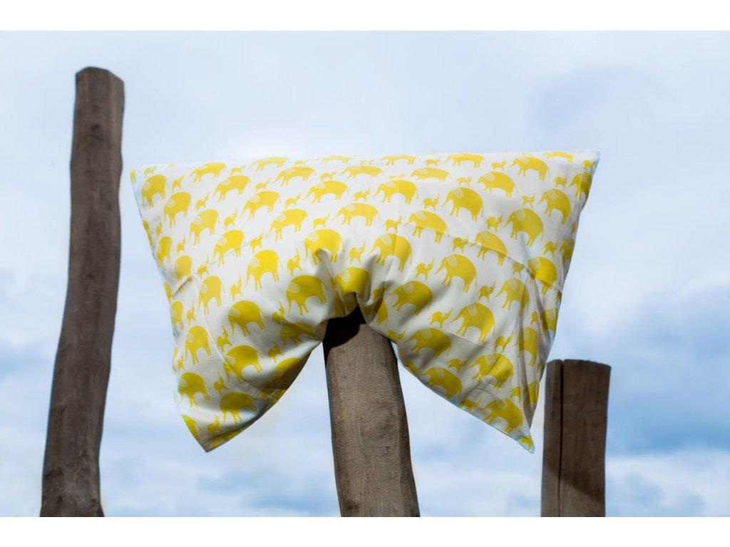 Tierra Verde – Povlečení dětské – žlutý slon (135×100 + 60×40 cm)
