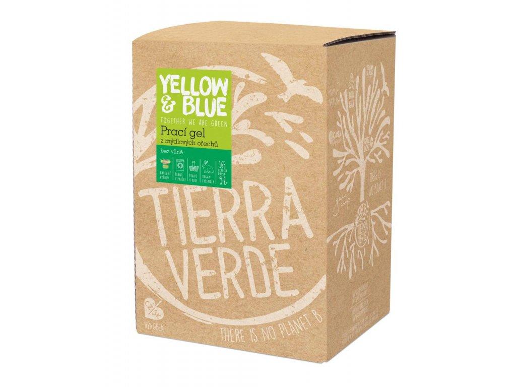 Tierra Verde – Prací gel bez vůně (Yellow & Blue), 5 l