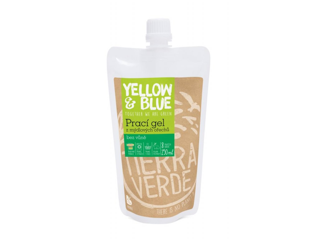 Tierra Verde – Prací gel bez vůně (Yellow & Blue), 250 ml