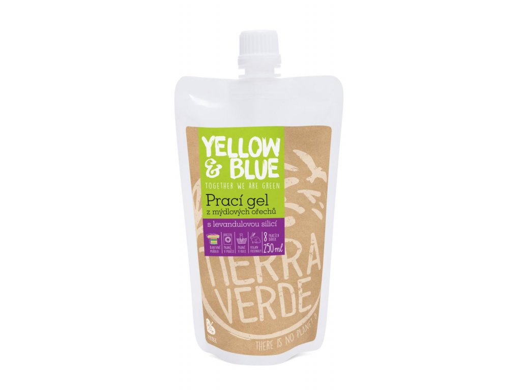 Tierra Verde – Prací gel levandule (Yellow & Blue), 250 ml