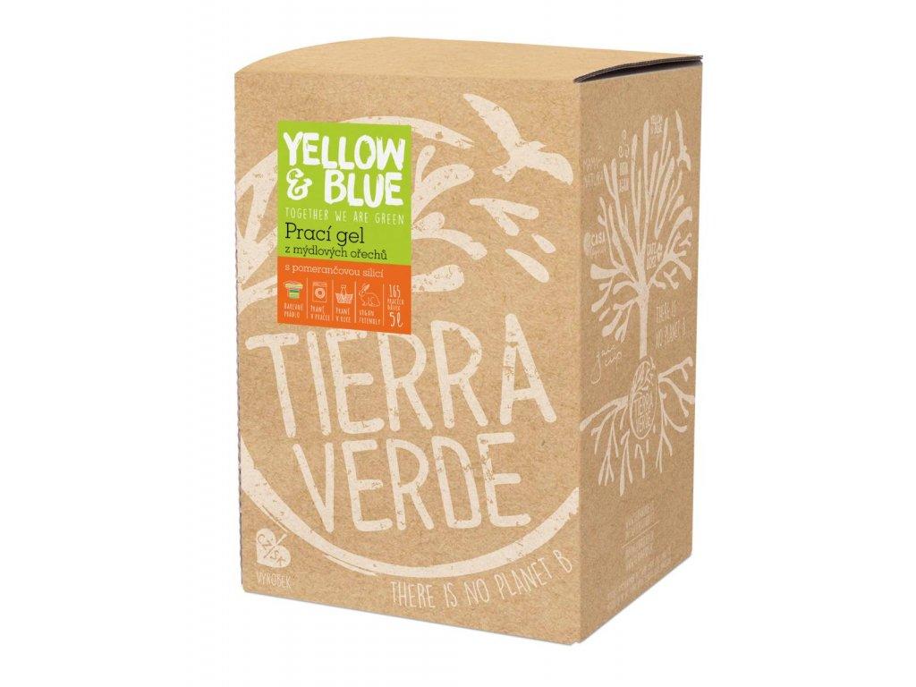 Tierra Verde – Prací gel pomeranč (Yellow & Blue), 5 l