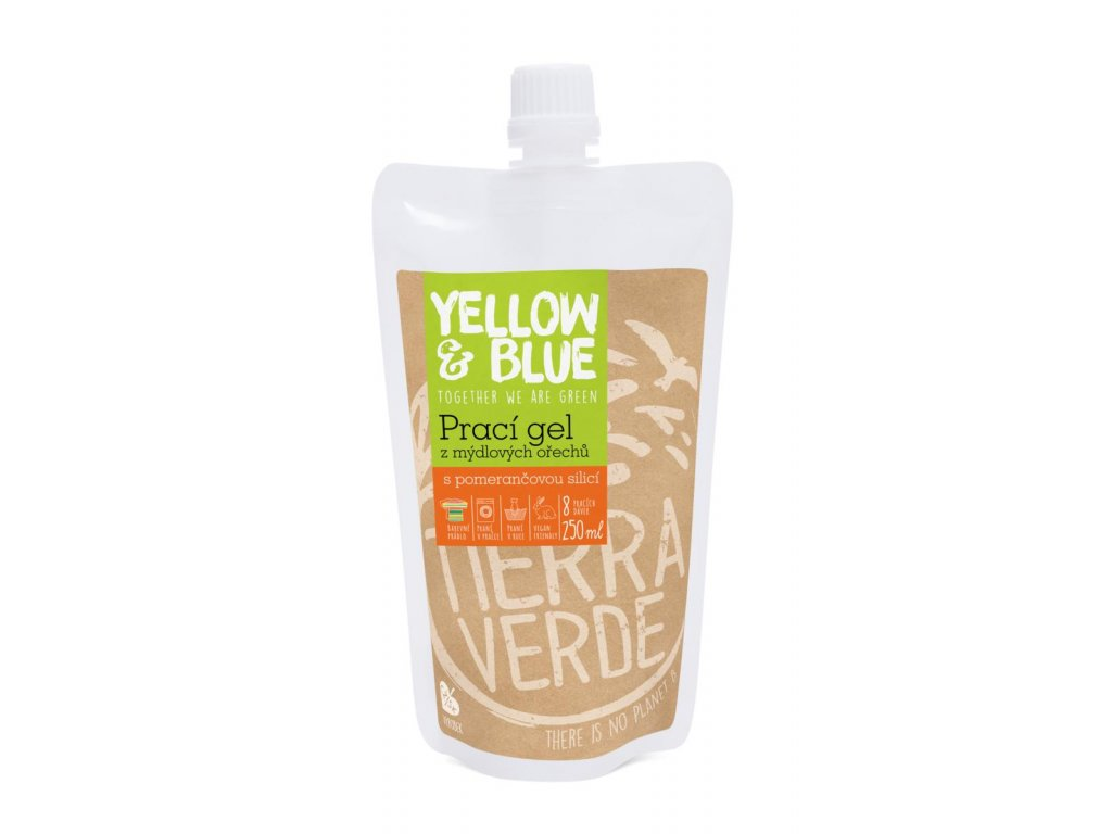 Tierra Verde – Prací gel pomeranč (Yellow & Blue), 250 ml