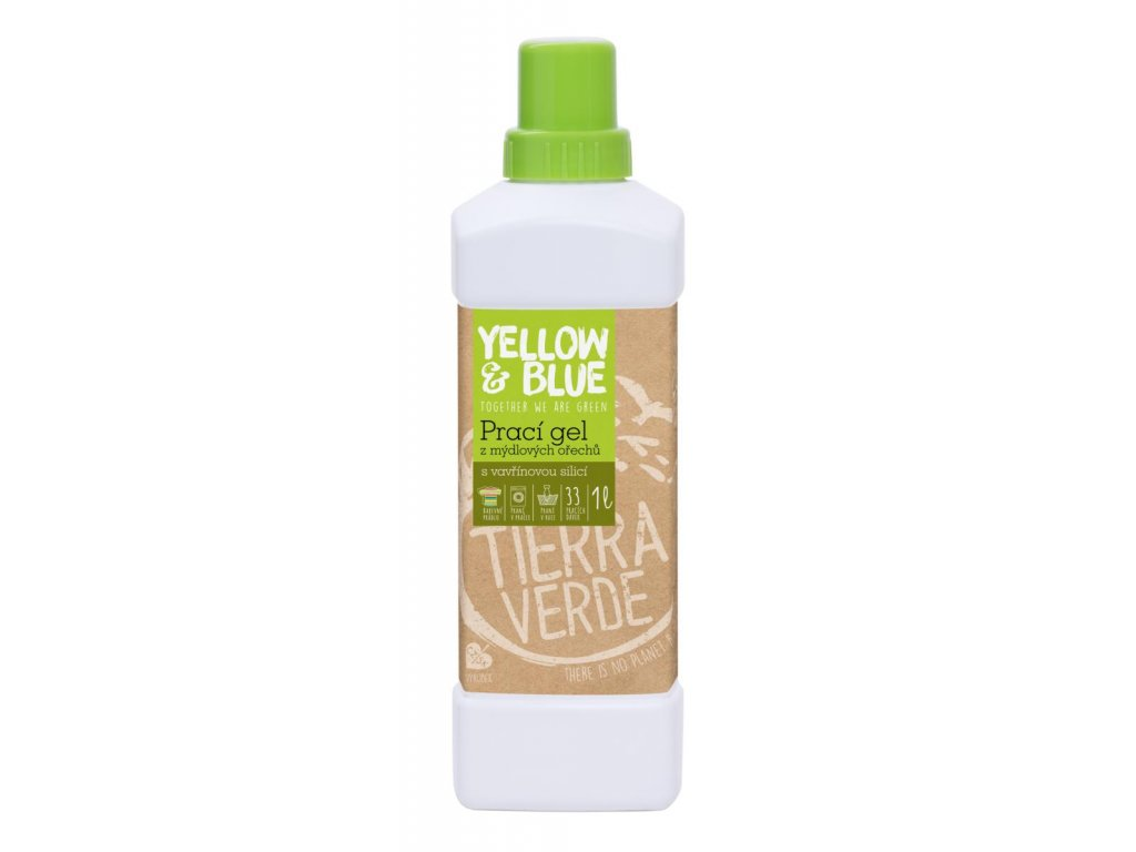 Tierra Verde – Prací gel vavřín (Yellow & Blue), 1 l