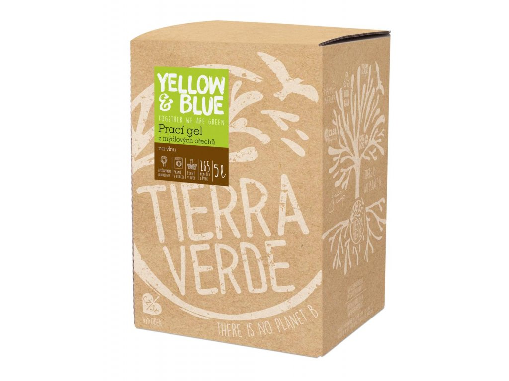 Tierra Verde – Prací gel vlna (Yellow & Blue), 5 l