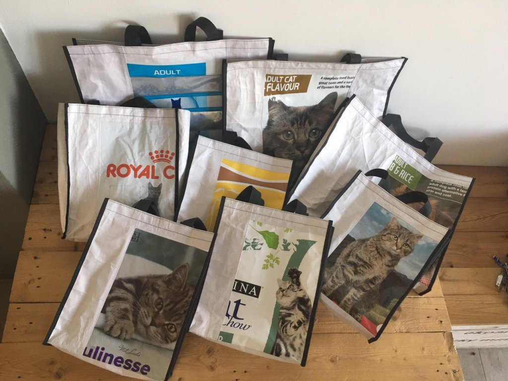 Tierra Verde – Recy taška kočkopes – velká (40 × 50 × 10 cm) (Born Again)