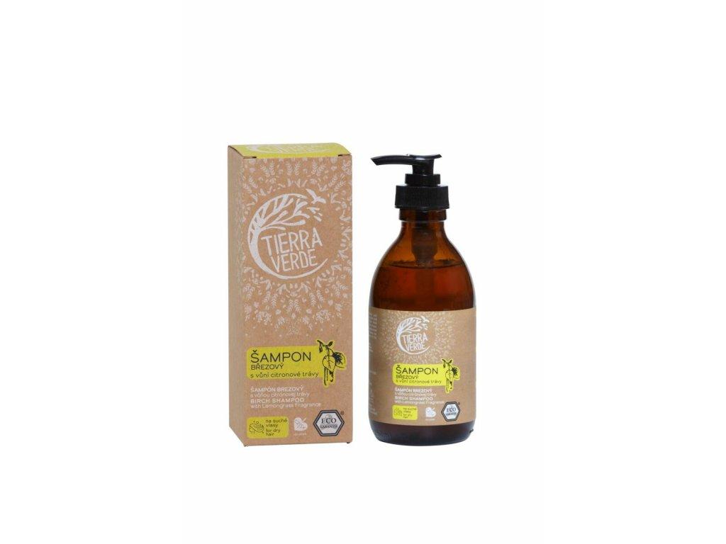 Tierra Verde – Šampon březový svůní citronové trávy, 230 ml