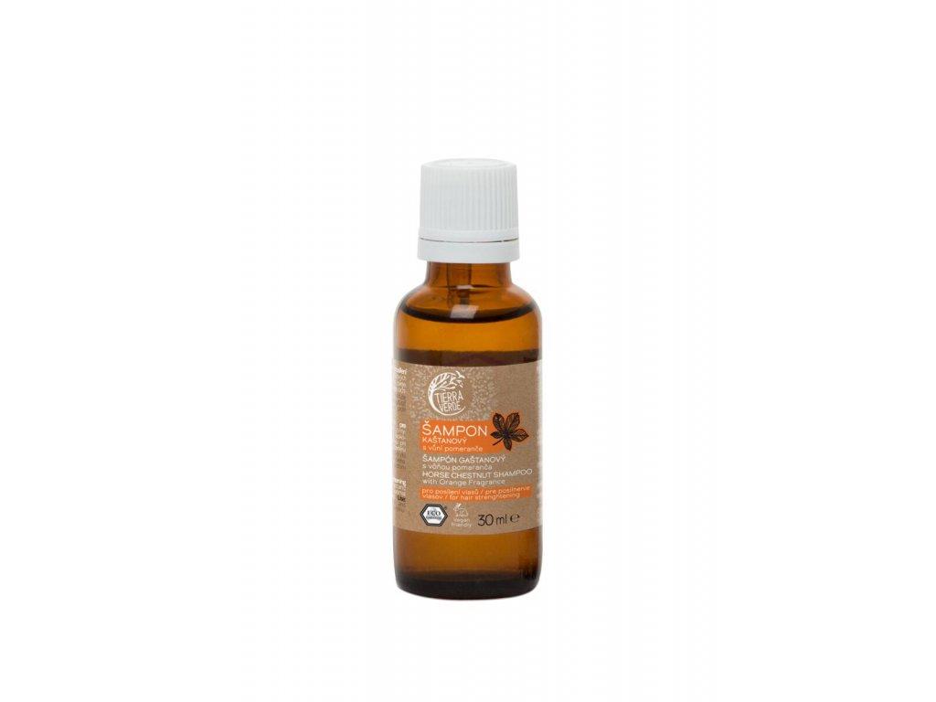 Tierra Verde – Šampon kaštanový svůní pomeranče, 30 ml