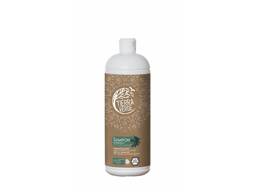 Tierra Verde – Šampon kopřivový svůní rozmarýnu a pomeranče, 1 l
