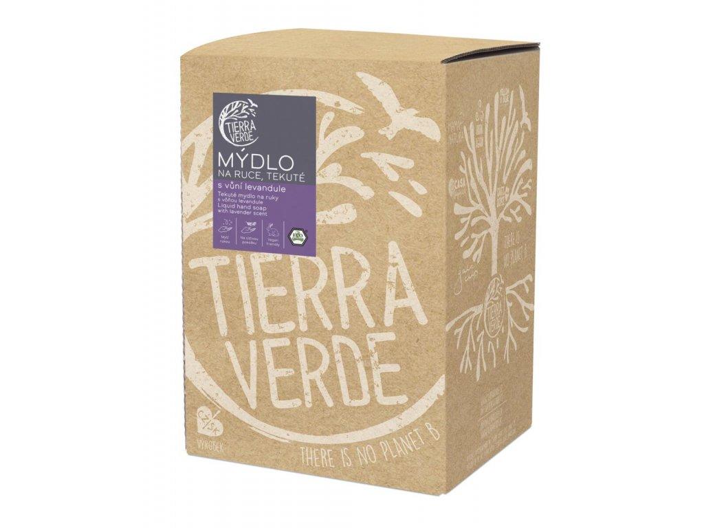 Tierra Verde – Tekuté mýdlo na ruce – levandule, 5 l