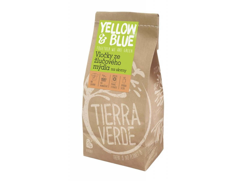 Tierra Verde – Vločky ze žlučového mýdla (Yellow & Blue), 400 g