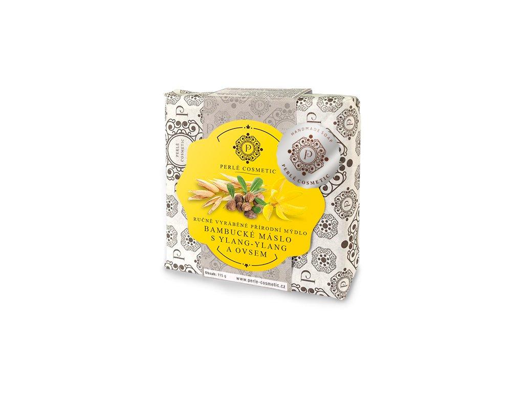 TOPVET Bambucké máslo s ylang-ylang a ovsem - mýdlo 115g