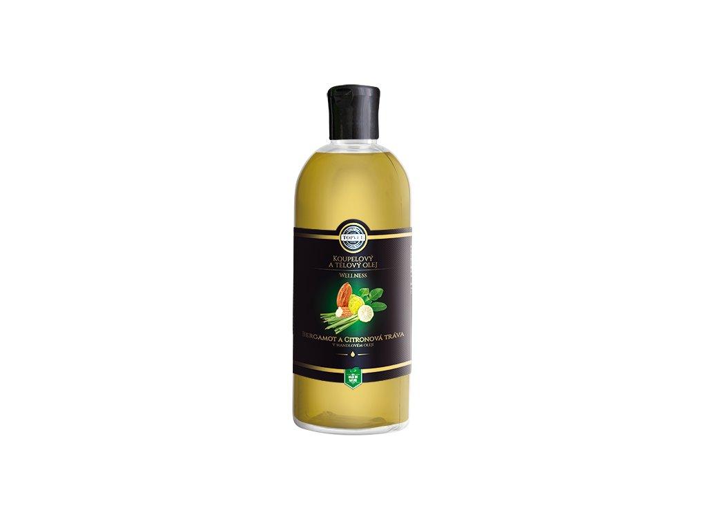 TOPVET Bergamot a citronová tráva v mandlovém oleji 500ml
