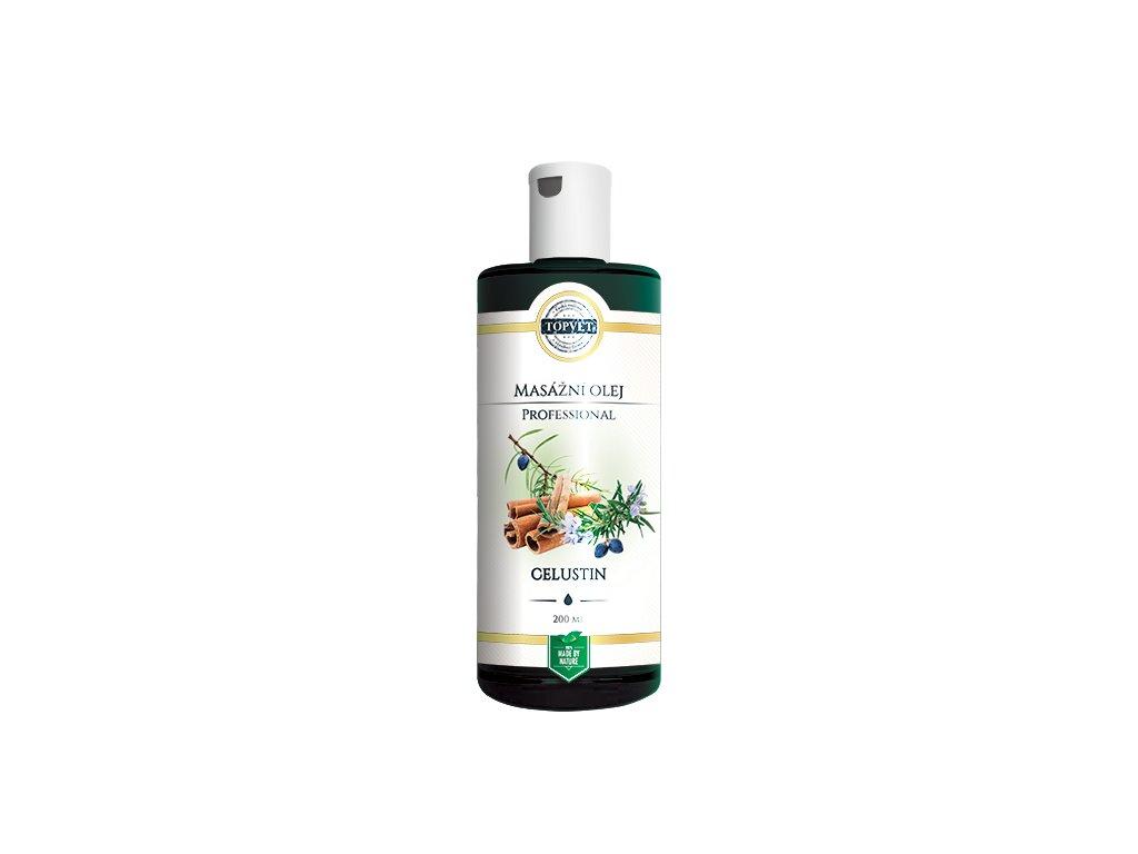 TOPVET Celustin - masážní olej 200ml