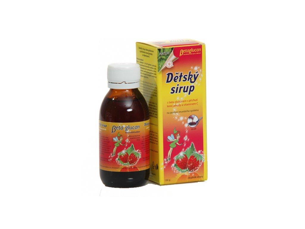 TOPVET Dětský sirup s příchutí lesní jahody a vitam. C 130g