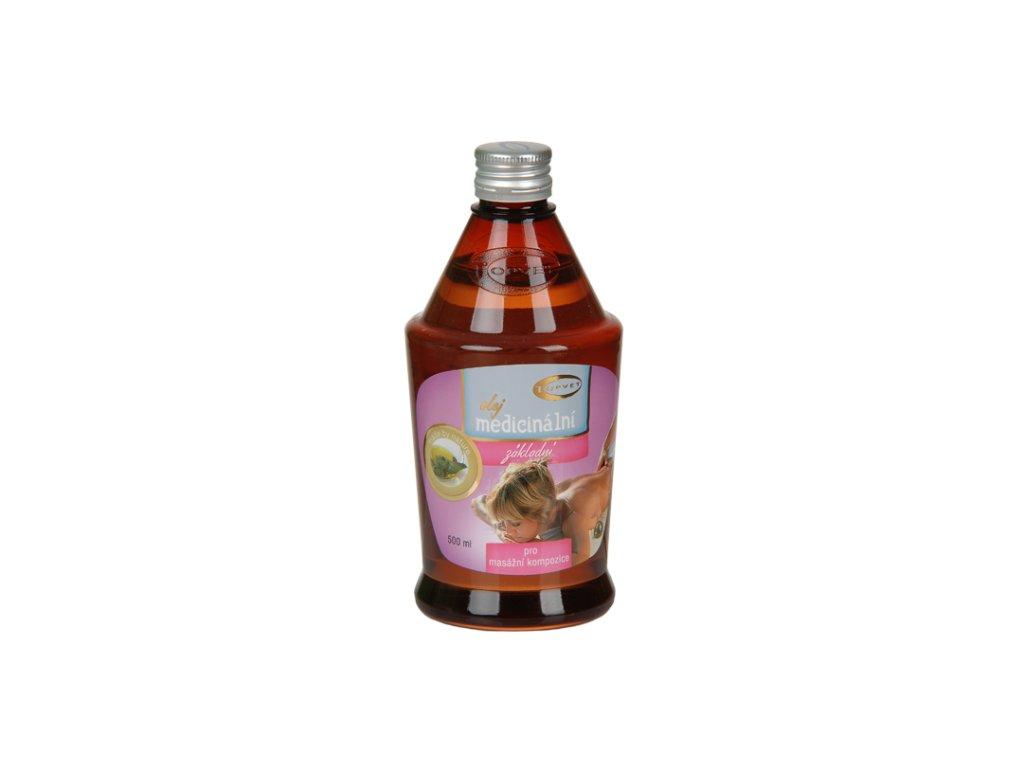 TOPVET Medicinální mas. olej - základní báze 500ml