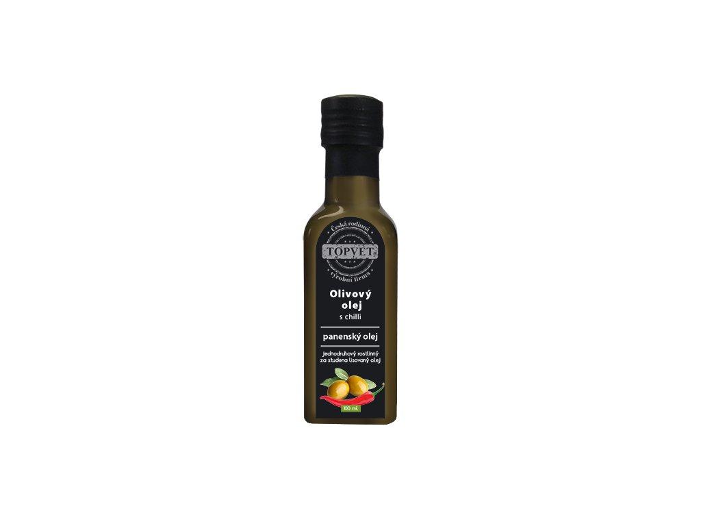 TOPVET Olivovy olej s chilli 100ml