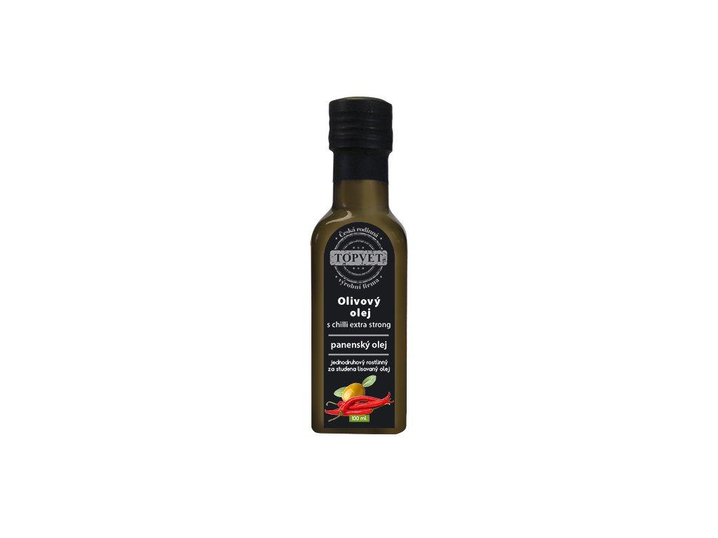 TOPVET Olivovy olej s chilli - extra silný 100ml