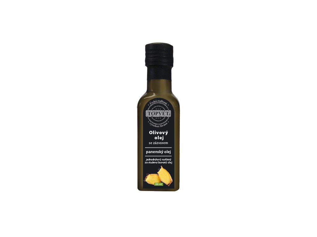 TOPVET Olivovy olej se zázvorem 100ml