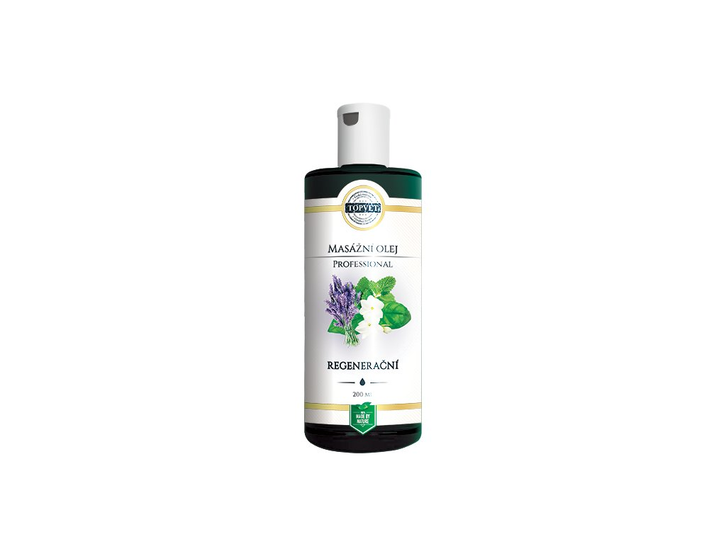 TOPVET Regenerační masážní olej 200ml
